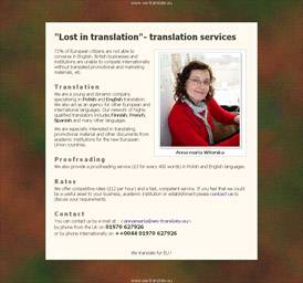 'Lost in translation'- translation services